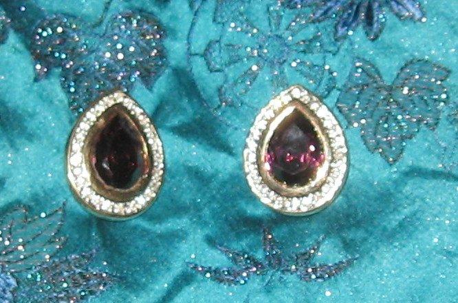 purple clipon earrings