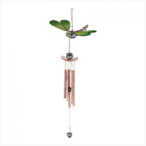 Stained Glass Dragonfly Windchime