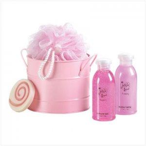 Jessie B Pink Bath Bucket Set