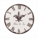 Fleur-De-Lis Wall Clock