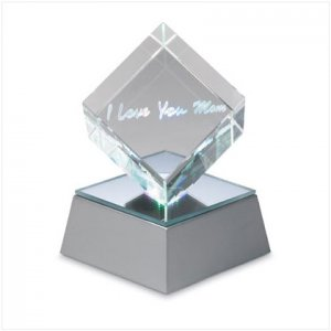 I Love You Mom Lighted Cube