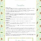 Aiden's Nursery Rhyme Ebay Auction Template