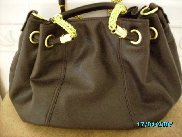 Designer inspired lambskin handbag