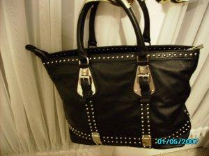 Designer inspired high end lambskin tote bag
