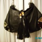 Designer inspired  soft leather high end black hobo
