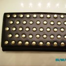 The Find Designer soft black leather studded clutch wallet