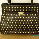 The Find Designer soft black leather studded handbag