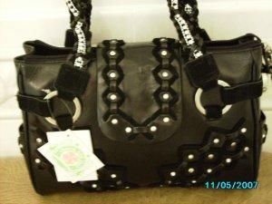 Charm and Luck designer leather crystal embellished bag