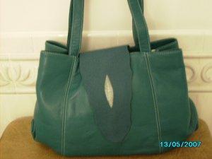 Carlos Falchi designer leather and stingray bag