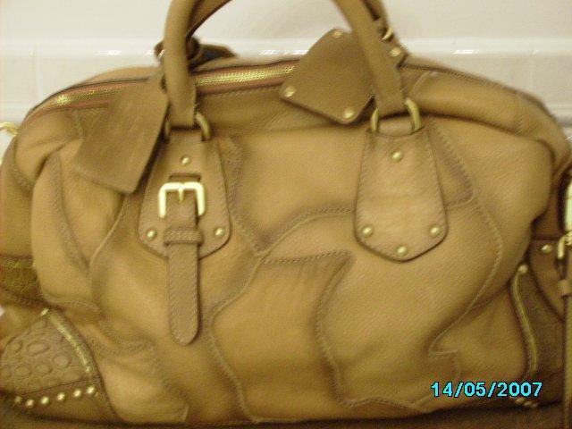 Ladies high end fine leather designer inspired satchel