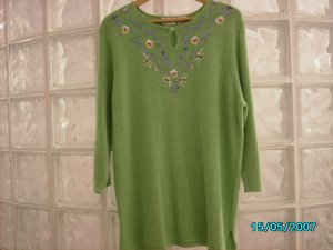 Ladies knit embroidered tunic