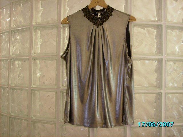 Ladies slinky gold top