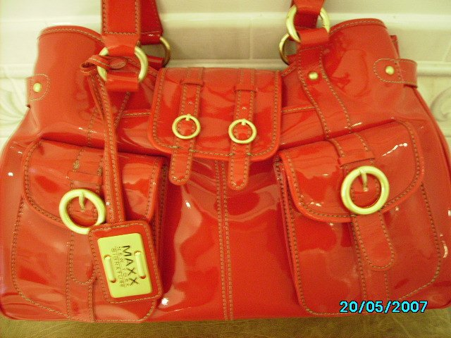 Maxx New York designer patent  bag