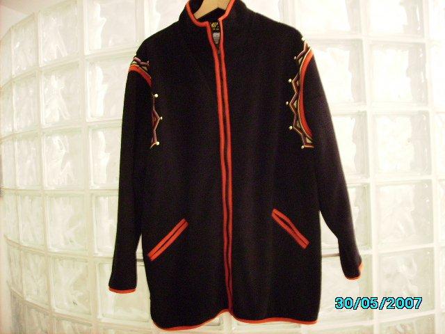 Bob Mackie designer fleece jacket