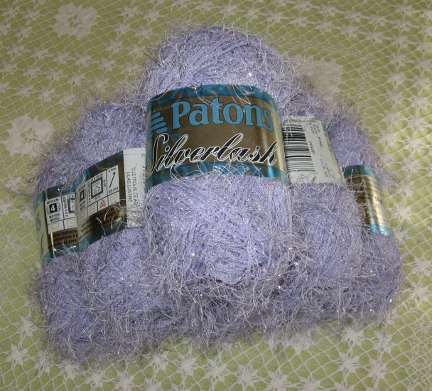 "$39 Lot--6 Skeins Silverlash ""Lustrous Lilac"" Yarn + Free Gift!"