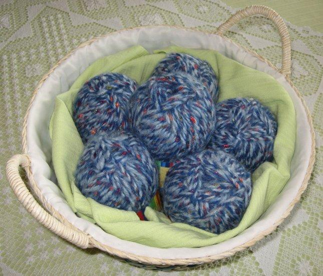 "$31 Lot--6 Skeins Yarn Bee Icelandic Jewels ""Sapphire"" Yarn + Free Gift!"