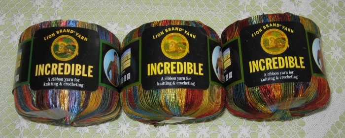 """$18 Lot--3 Skeins Lion Brand Incredible """"Copper Penny"""" Yarn + Free Gift!"""