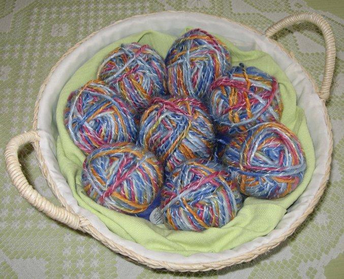 "$53 Lot--8 Skeins Yarn Bee Mosaic Twist ""Terra Rosa"" Yarn + Free Gift!"