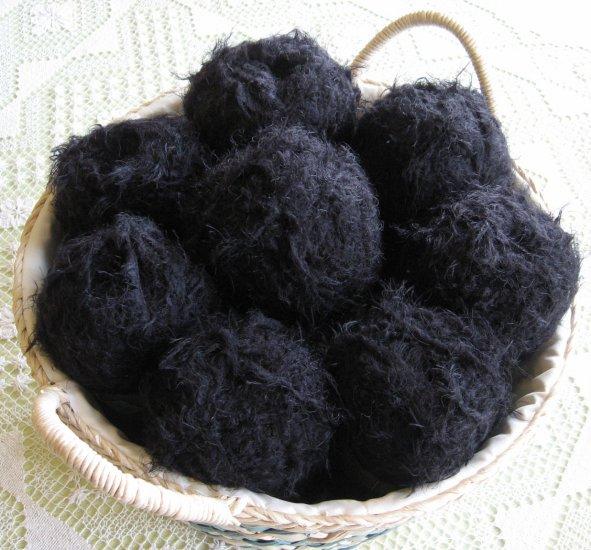 "$47 Lot--8 Skeins Yarn Bee Luscious ""Black Walnut"" Yarn + Free Gift!"