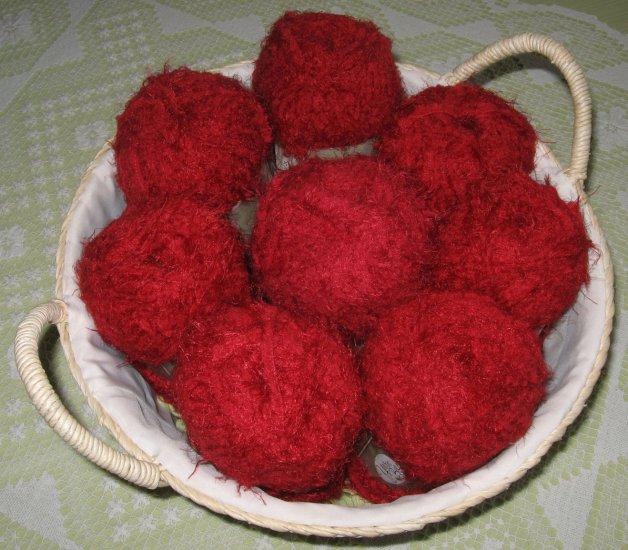 "$47 Lot--8 Skeins Yarn Bee Luscious ""Cherry "" Yarn + Free Gift!"