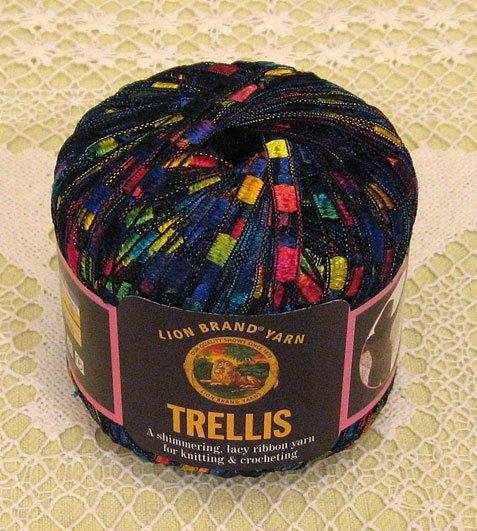 """Lion Brand Trellis """"Rainbow"""" Yarn ~ 1 Skein ~ $12"""