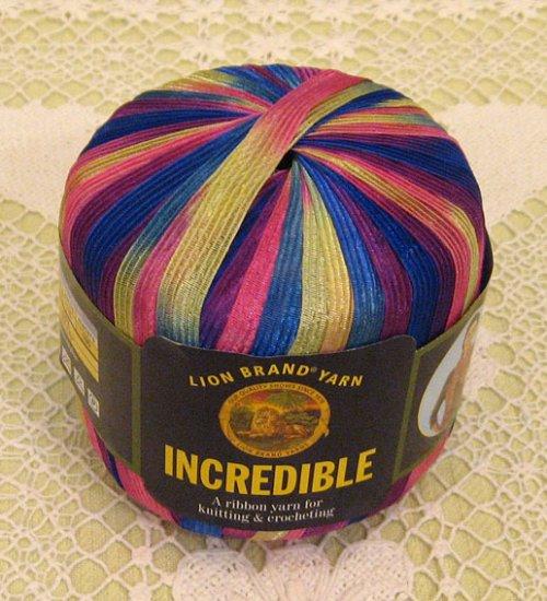 "Lion Brand Incredible ""Carnival"" Yarn ~ 1 Skein ~ $4"