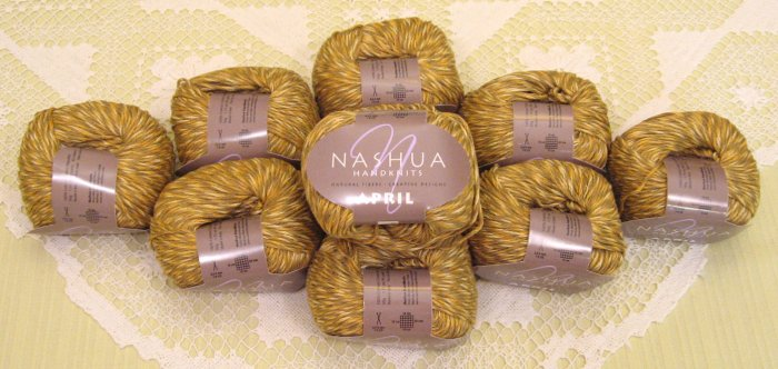 "$70 Lot--10 Skeins Nashua April ""Honey"" Cotton Yarn + Free Gift!"