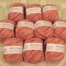 "$100 Lot--10 Skeins Crystal Palace Meringue ""Rose Petal"" Yarn + Free Gift!"
