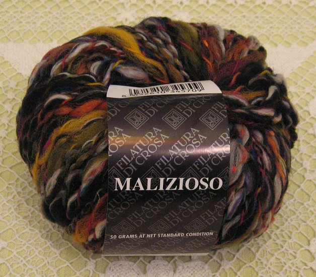 """Filatura Di Crosa Malizioso """"5 Black Multi"""" Yarn ~ 1 Skein ~ $3.50"""