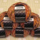"$54 Lot--6 Skeins Filatura Di Crosa Malizioso ""2 Peach Multi"" Yarn + Free Gift!"