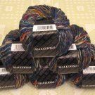 "$54 Lot--6 Skeins Filatura Di Crosa Malizioso ""9 Blue Multi"" Yarn + Free Gift!"