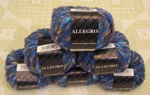 "$81 Lot--6 Skeins Filatura Di Crosa Allegro ""10 Blue Multi"" Yarn + Free Gift!"