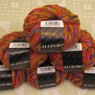 "$81 Lot--6 Skeins Filatura Di Crosa Allegro ""1 Orange Multi"" Yarn + Free Gift!"