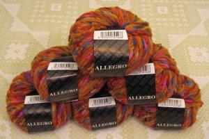 "$81 Lot--6 Skeins Filatura Di Crosa Allegro ""1 Orange Multi"" Yarn + Free Gift!"