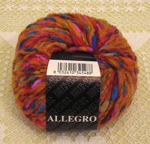 """Filatura Di Crosa Allegro """"1 Orange Multi"""" Yarn ~ 1 Skein ~ $5"""