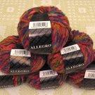 "$81 Lot--6 Skeins Filatura Di Crosa Allegro ""11 Red Multi"" Yarn + Free Gift!"