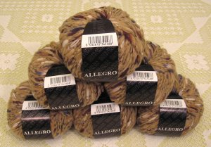 "$81 Lot--6 Skeins Filatura Di Crosa Allegro ""13 Tan Multi"" Yarn + Free Gift!"