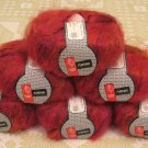 "$66 Lot--6 Skeins Muench Furrari ""4408"" Mohair Yarn + Free Gift!"