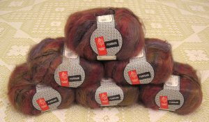 "$66 Lot--6 Skeins Muench Furrari ""4410"" Mohair Yarn + Free Gift!"