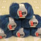 "$66 Lot--6 Skeins Muench Furrari ""4412"" Mohair Yarn + Free Gift!"