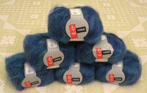 "$66 Lot--6 Skeins Muench Furrari ""4412"" Mohair Yarn + Free Gift!"