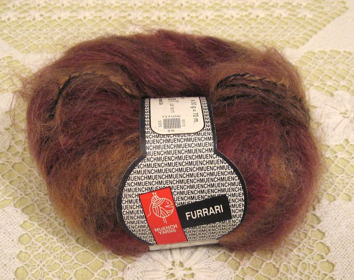 "Muench Furrari ""4406"" Mohair Self-Striping Yarn ~ 1 Skein ~ $7"