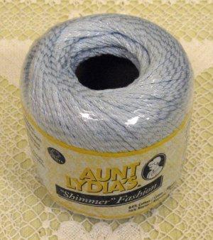 "Aunt Lydia's Shimmer Fashion ""Light Blue"" Yarn ~ 1 Skein ~ $1.50"