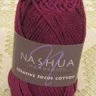 "Nashua Creative Focus Cotton ""Dark Fuchsia"" Yarn ~ 1 Skein ~ $3"
