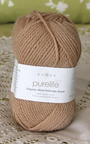 "Rowan Purelife Organic Wool ""Black Tea"" Yarn ~ 1 Skein ~ $7"