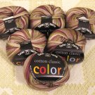 "6 Skeins Tahki Cotton Classic ""115 Green/Tan/Grey"" Yarn + Free Gift!"