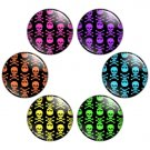 Skull Pattern 1.25 inch Pinback Button Badge Set