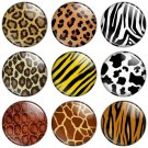 Animal Print 1.25 inch Pinback Button Badge Set
