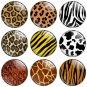 Animal Print 1.25 inch Pinback Button Badge Set