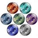 Pixel Camouflage Pattern 1.25 inch Pinback Button Badge Set